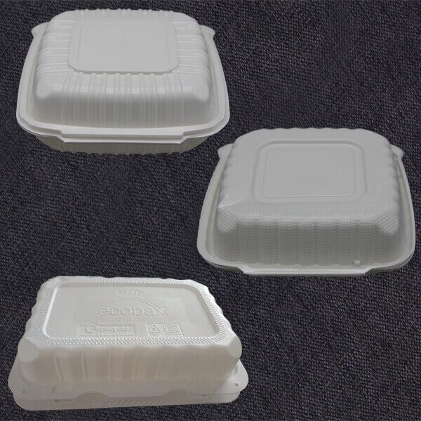 Biodegradable Clamshell Take Out Food Containers